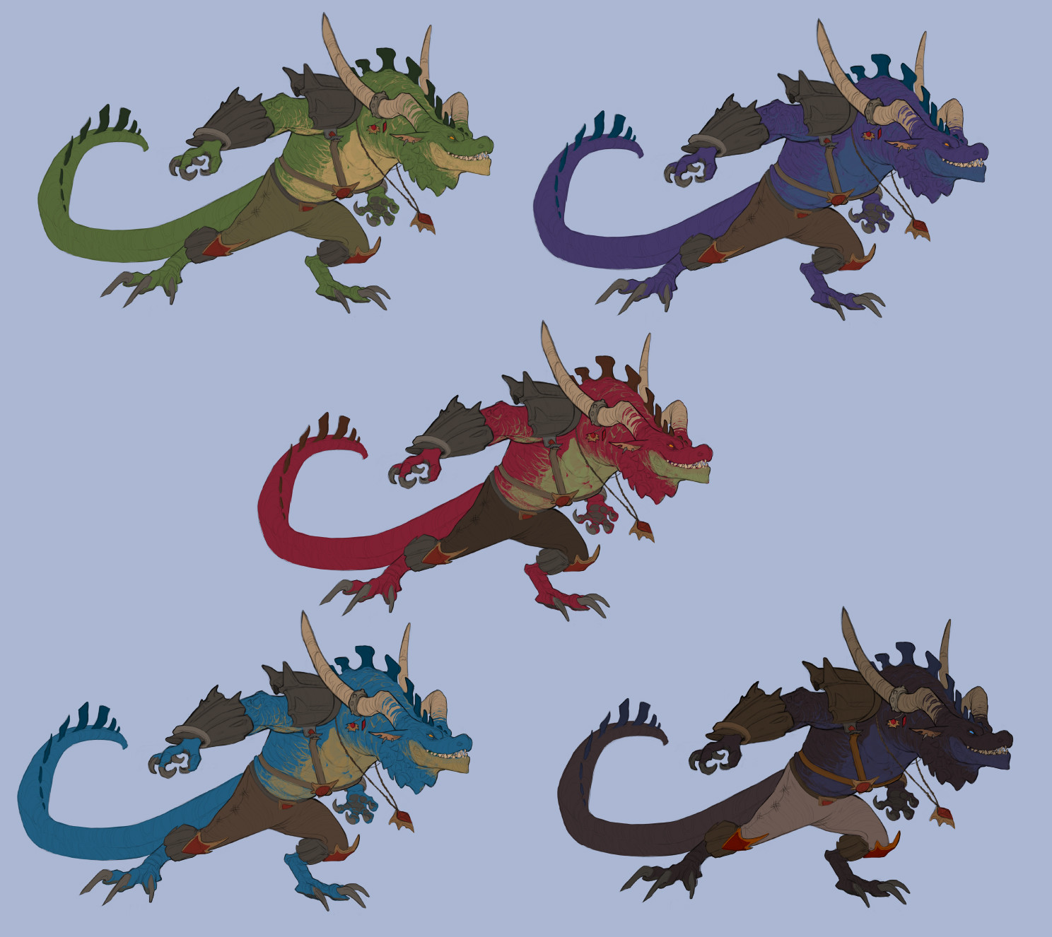 Cindy a avelino dragon characters revision final colors