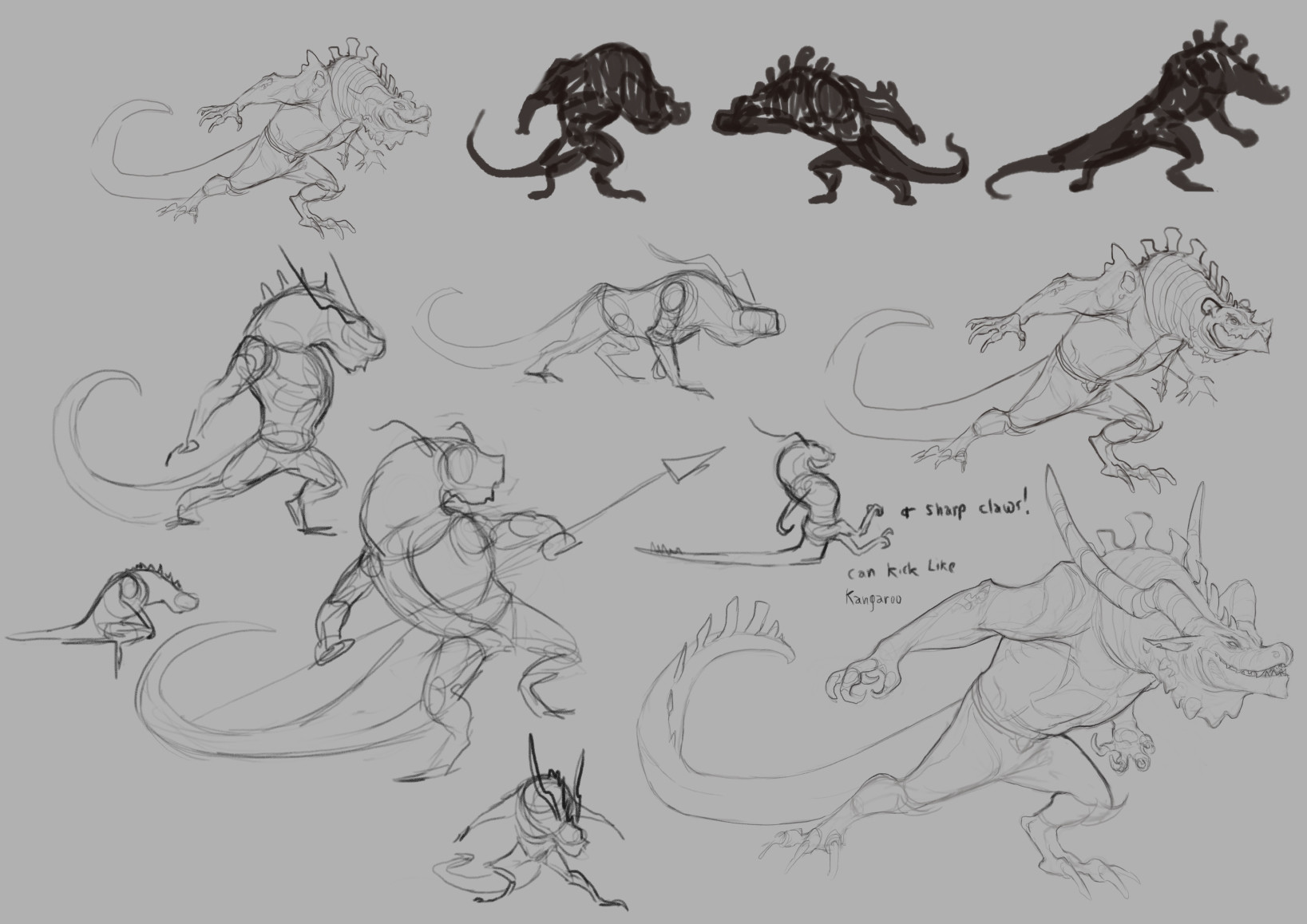 Cindy a avelino dragon characters revision sketch