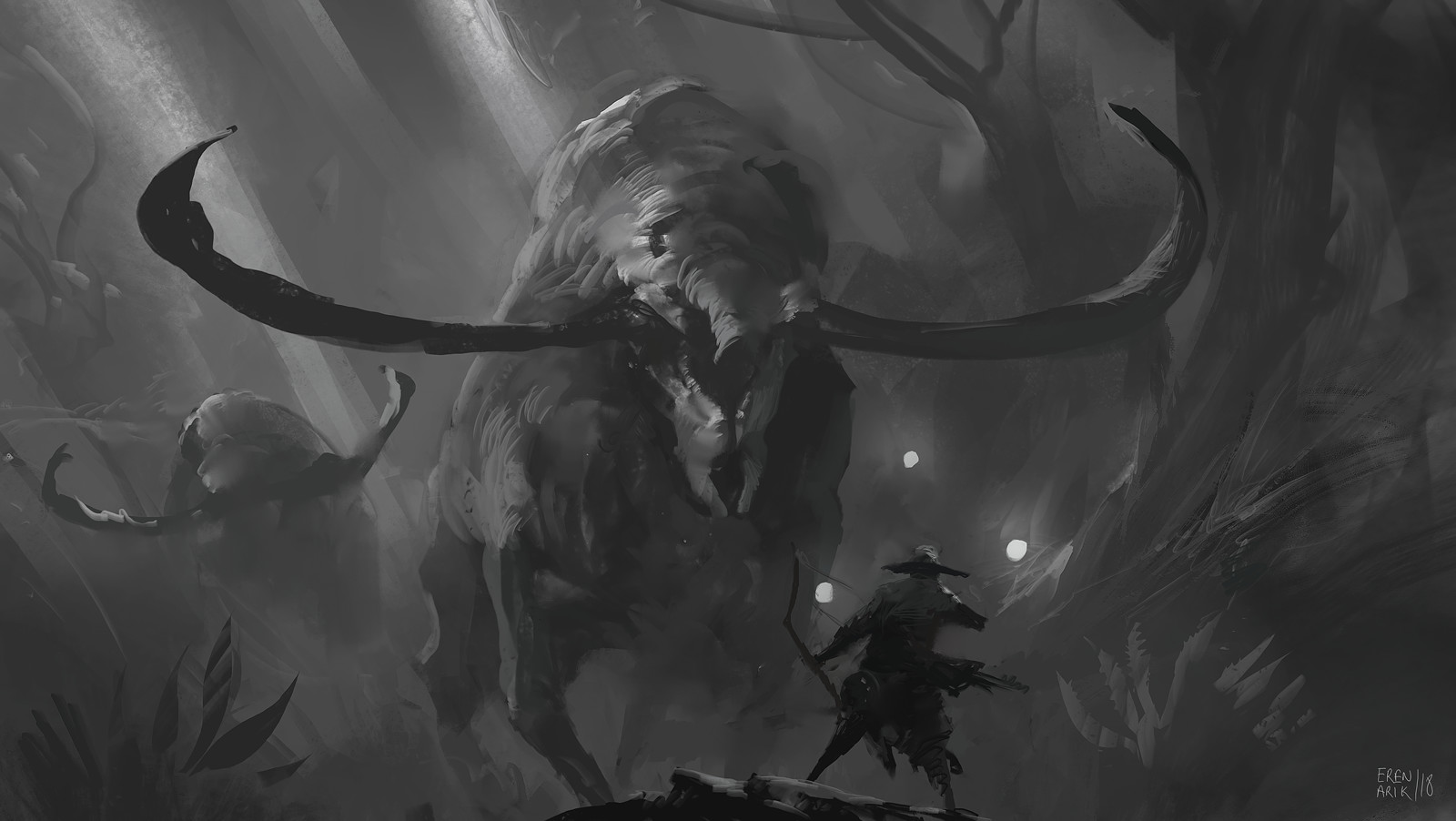 Eren arik hunitng monster