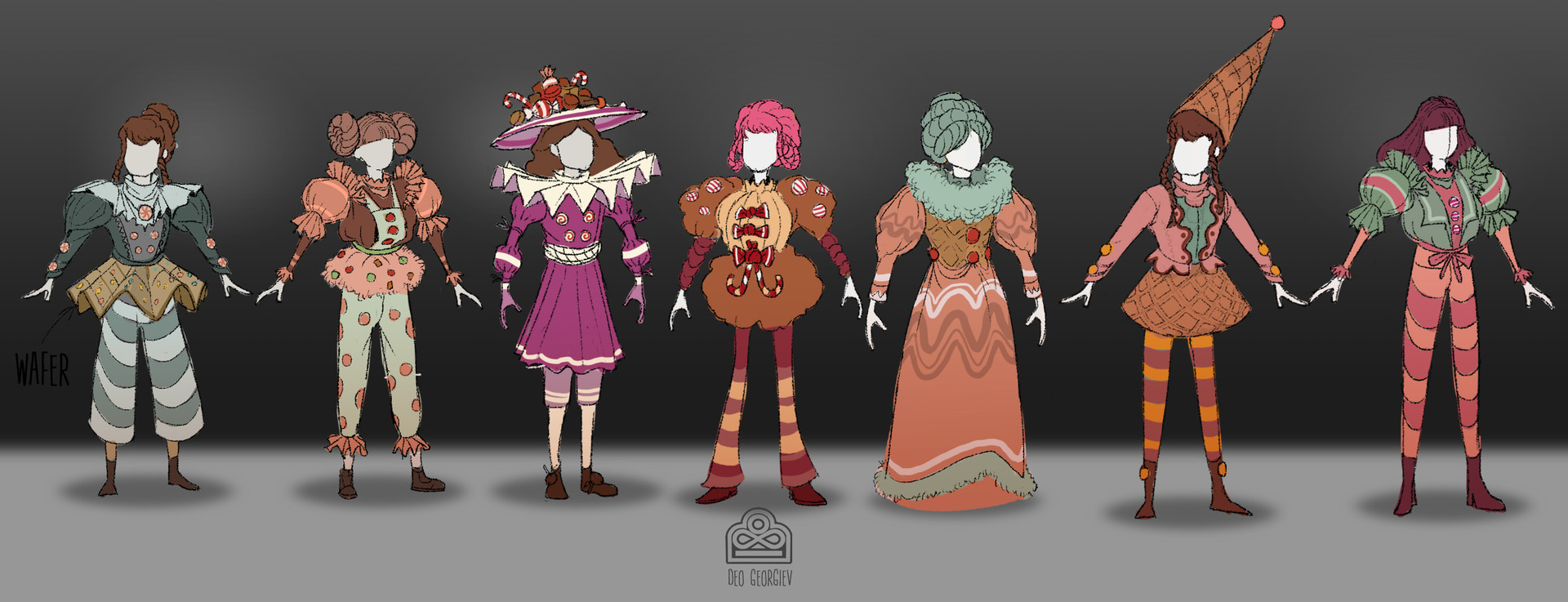 Stage 1 Costume Iterations