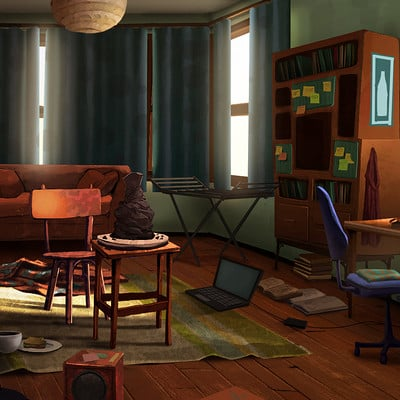 Deo georgiev room illustration color2