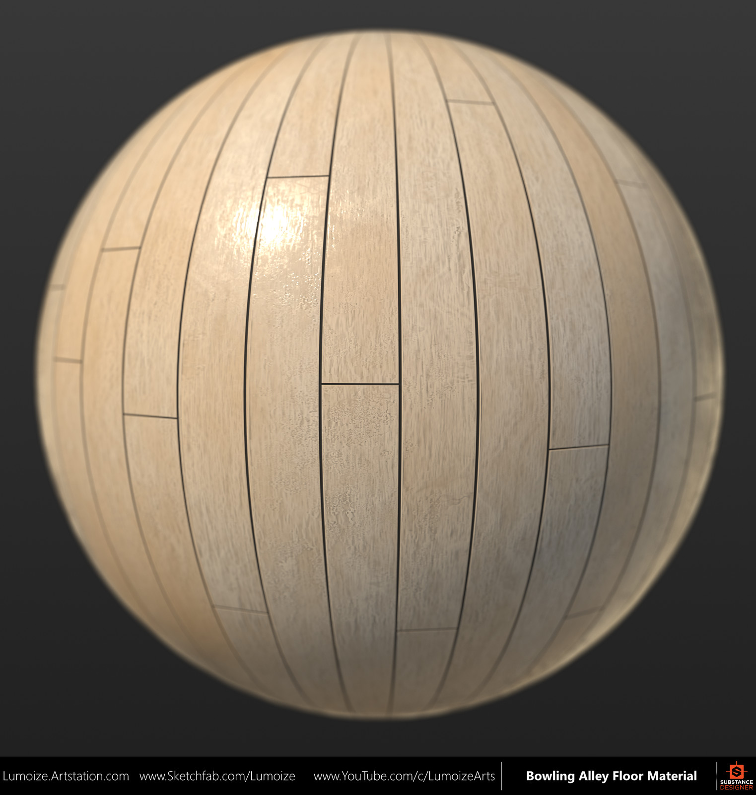 Bowling Alley Wood Floor