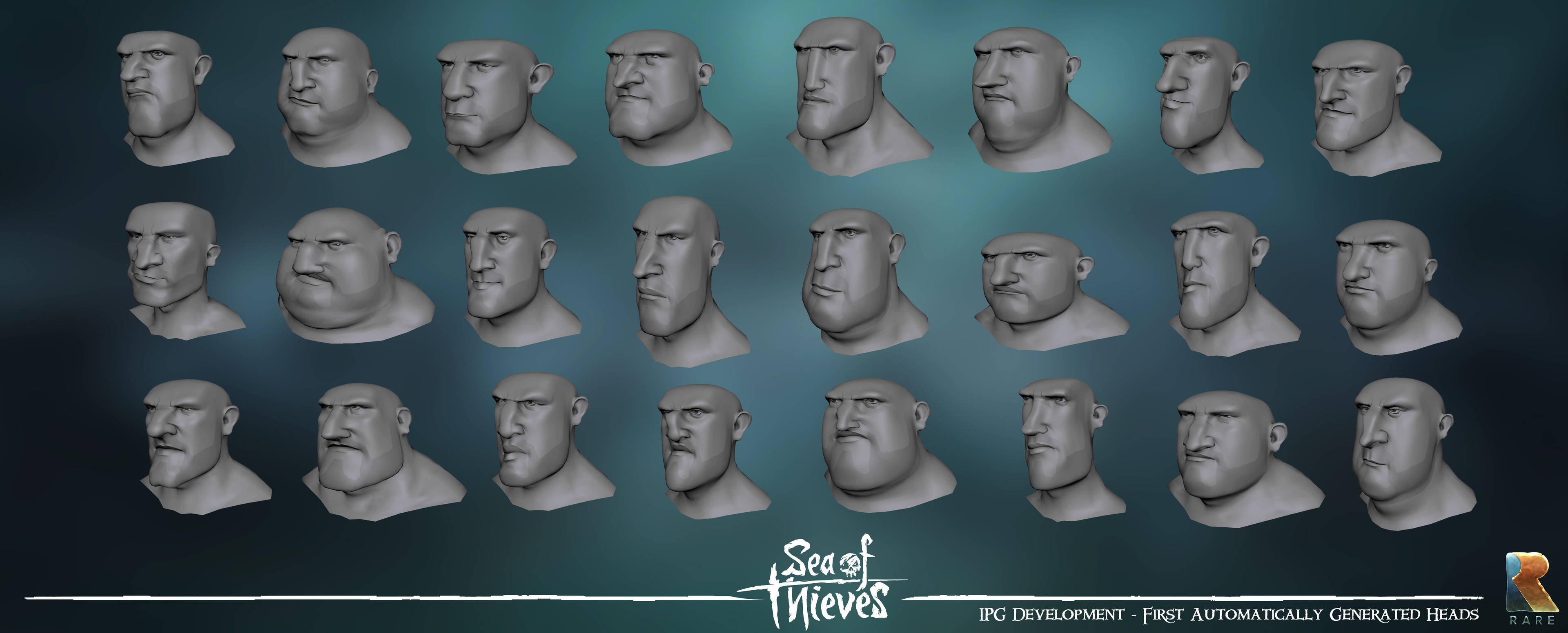 IPG - Very early Maya side IPG tests.  Fully automatically generated heads.