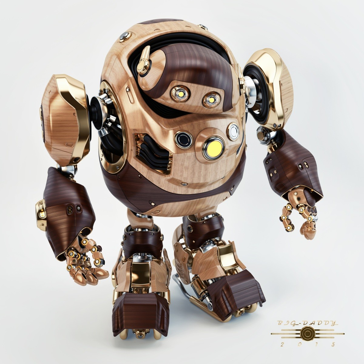 Vladislav ociacia big daddy robot wooden retro 1