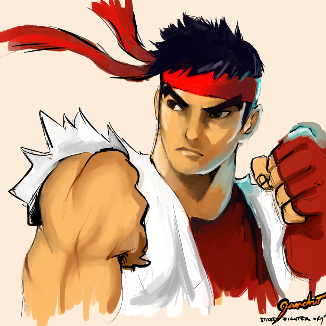 Artstation Ryu Street Fighter Concept Art Illustration