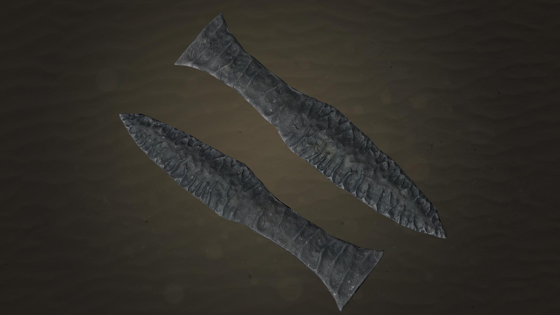 Christoffer sjostrom flint dagger lowpoly