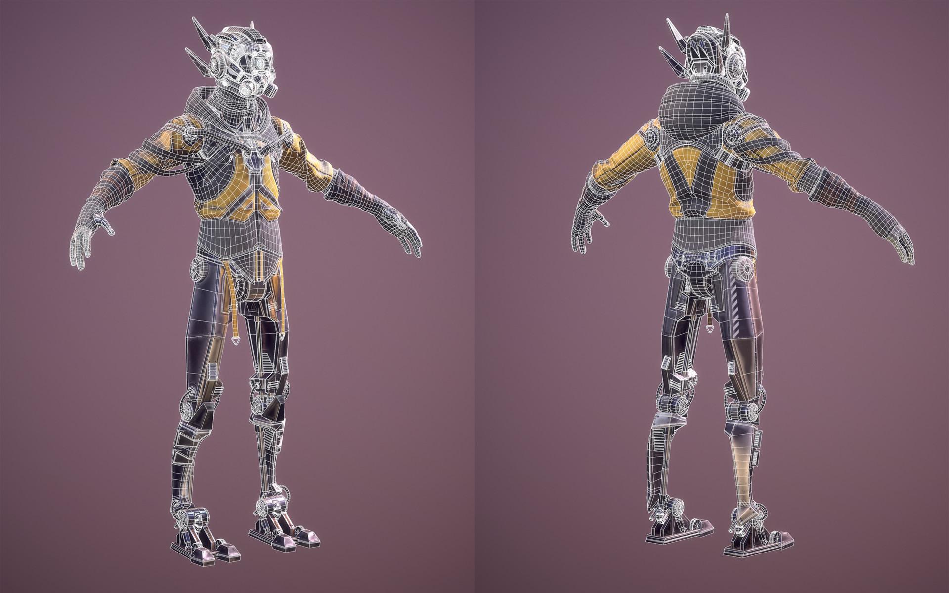 Marleen vijgen 08 cyborg wireframe