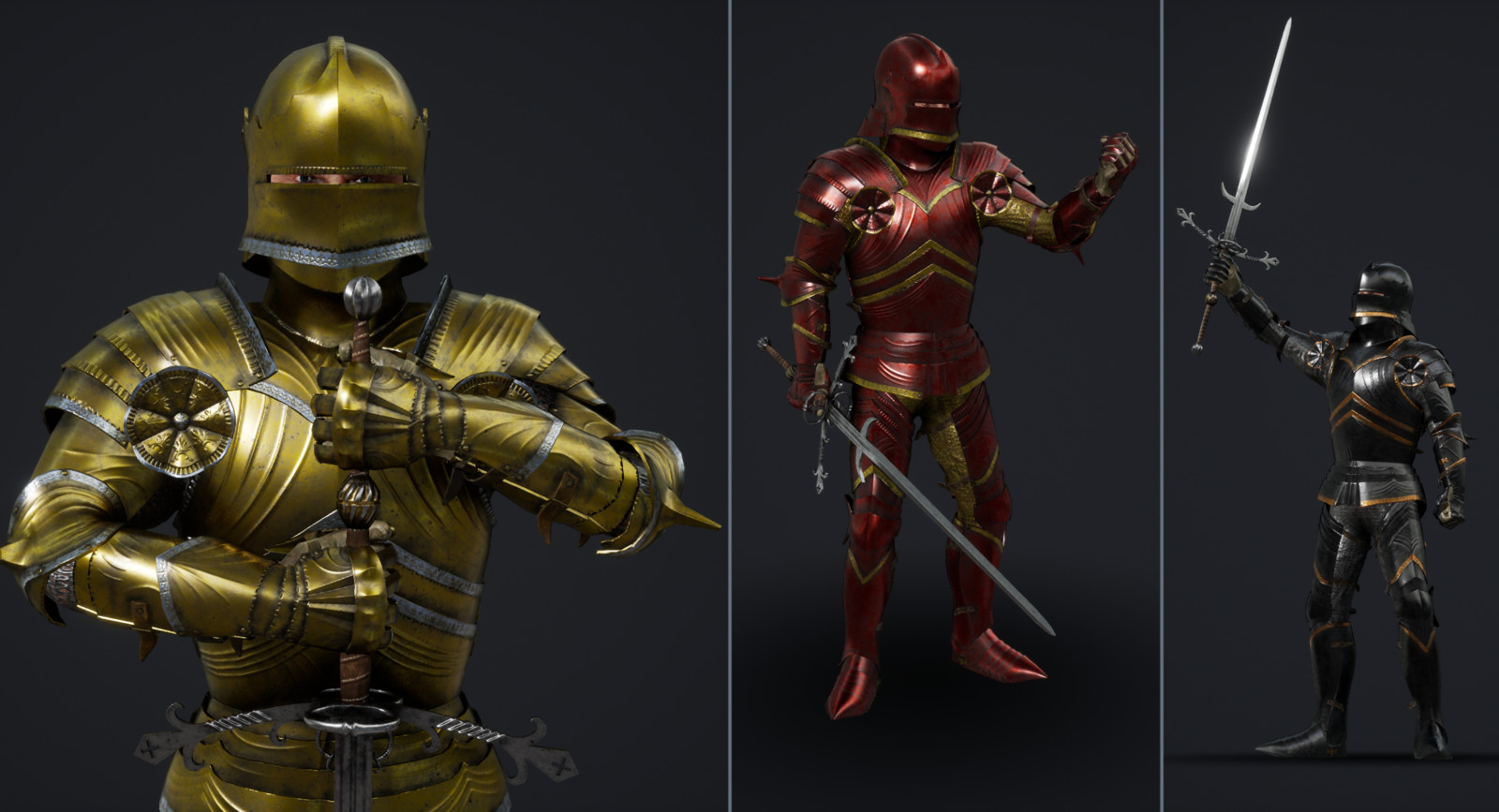 Colour Variants (not historically accurate, rather displaying different colour combinations)