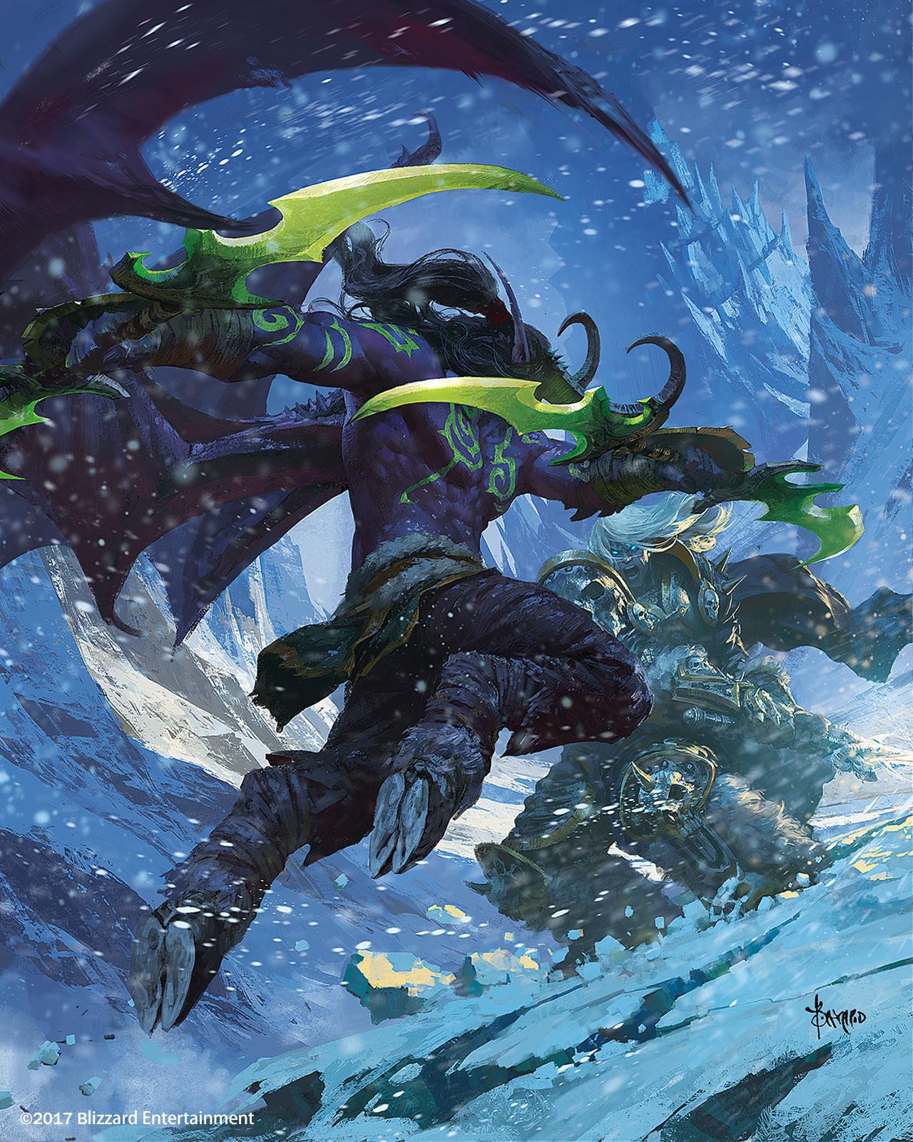 Bayard wu 017 arthas fighting illidan