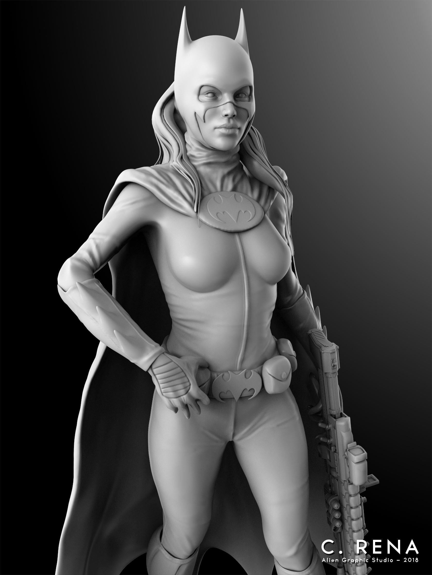 Batgirl Render in Keyshot