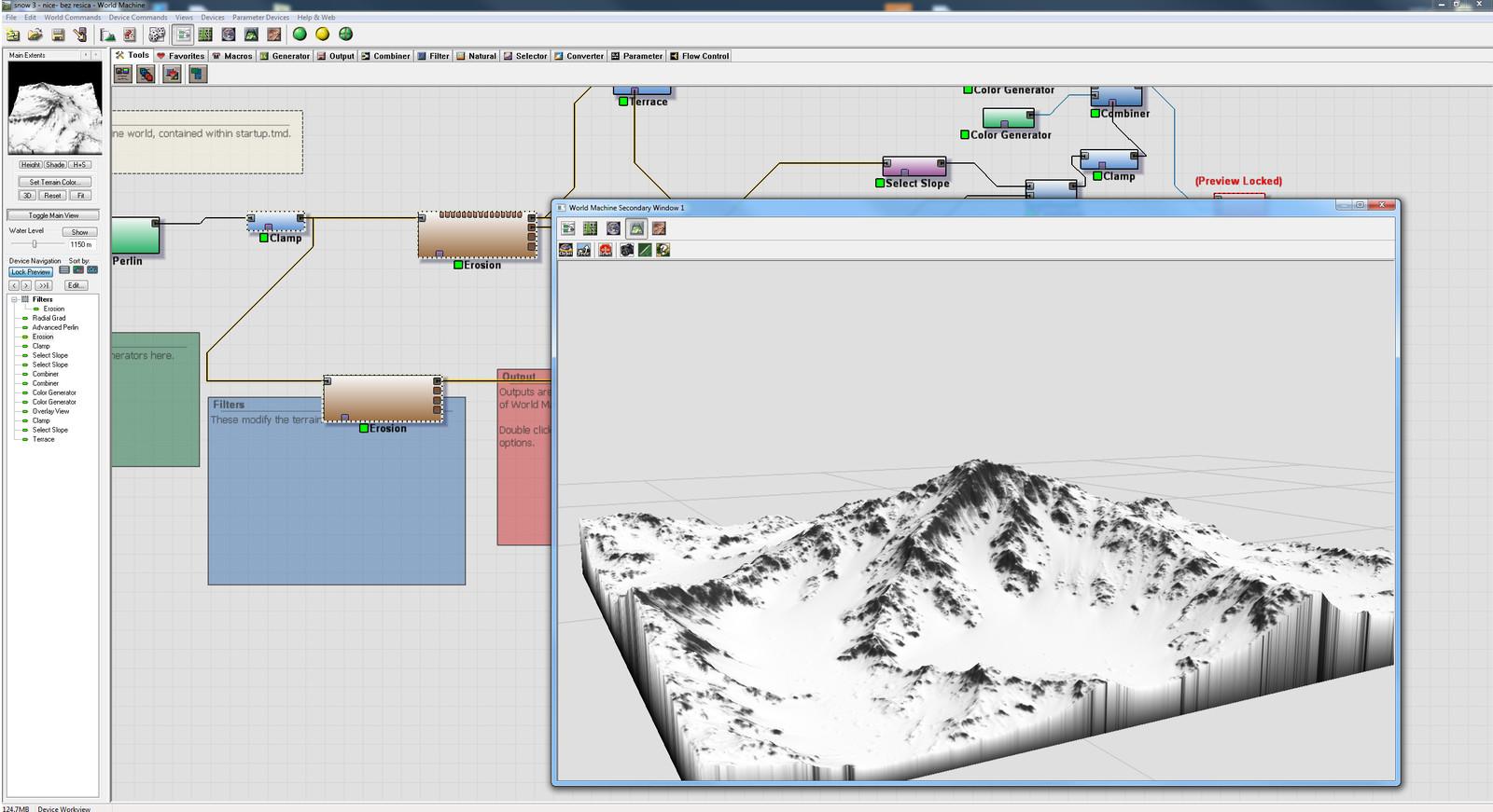 Here's the terrain I did using world machine