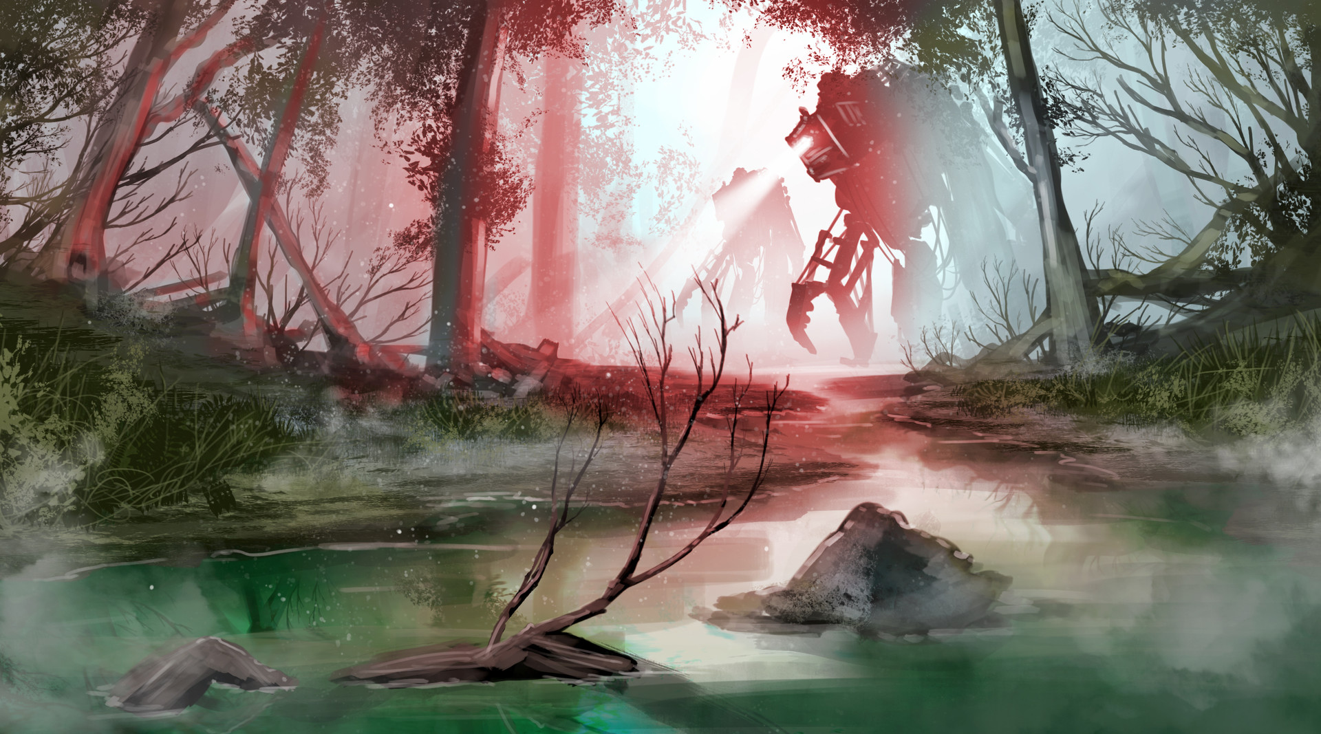Mike johnston ruinedworld sketch morningswamp