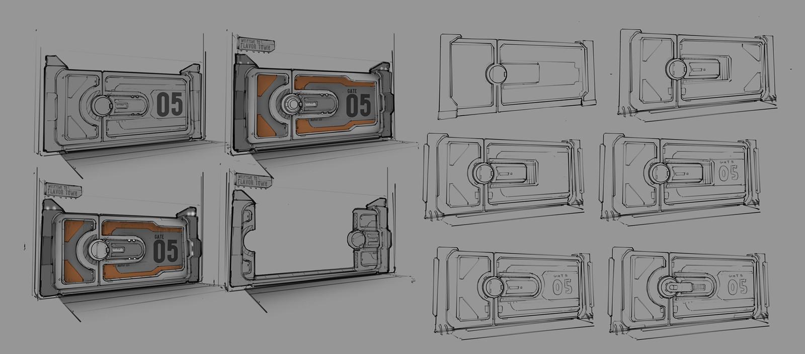 Initial door concepts