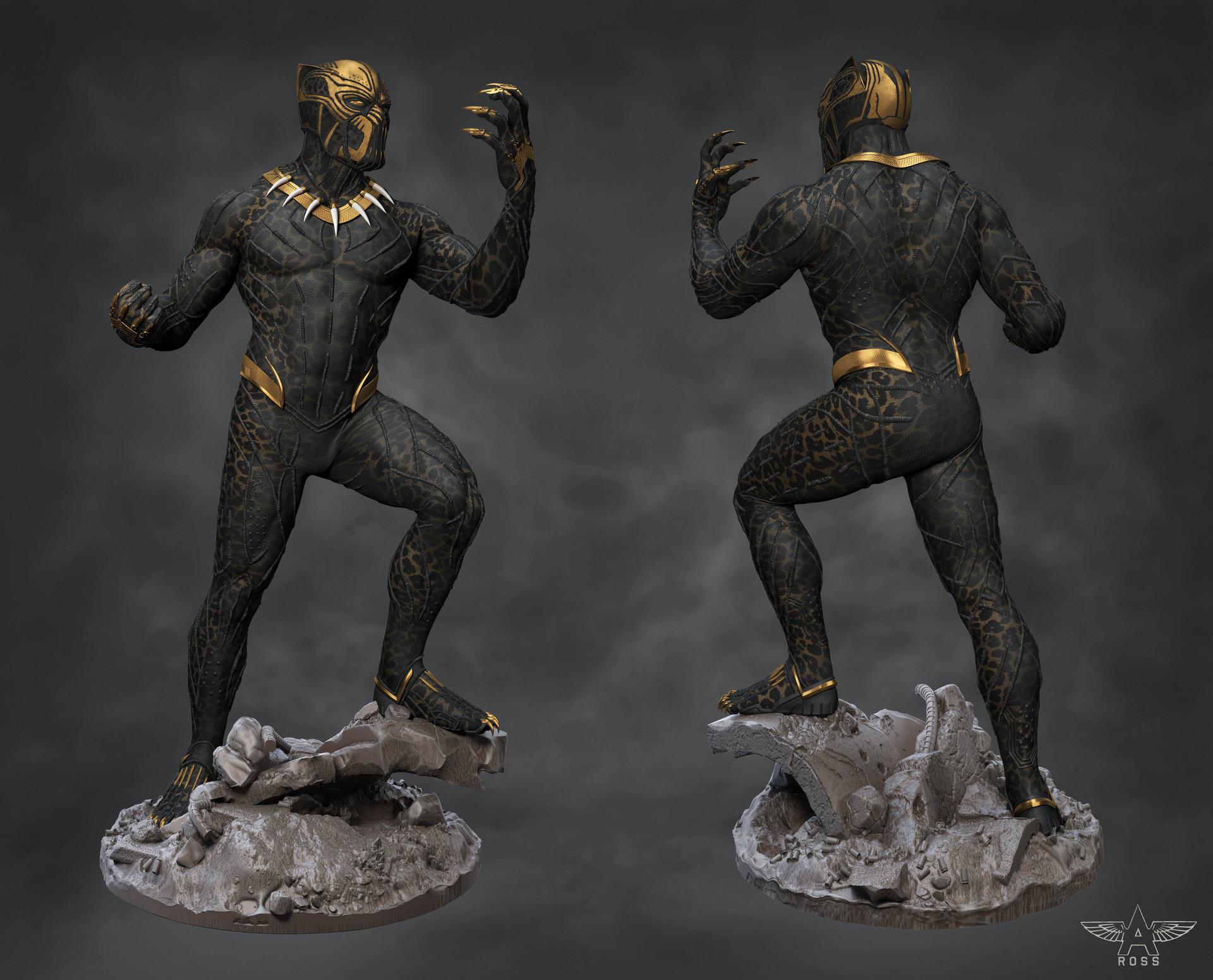 Artstation Marvel Studios Black Panther Killmonger Suit