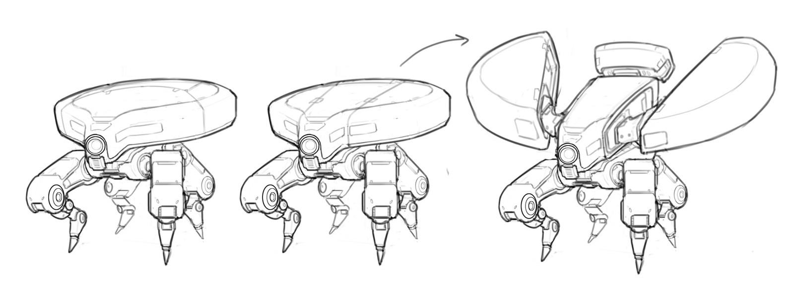 The game designer asked me to give the Turret tick a more revealing silhouette while the tick was jumping, so I designed a shell that could animate outwards when the tick lunged forward. Pretty spooky.