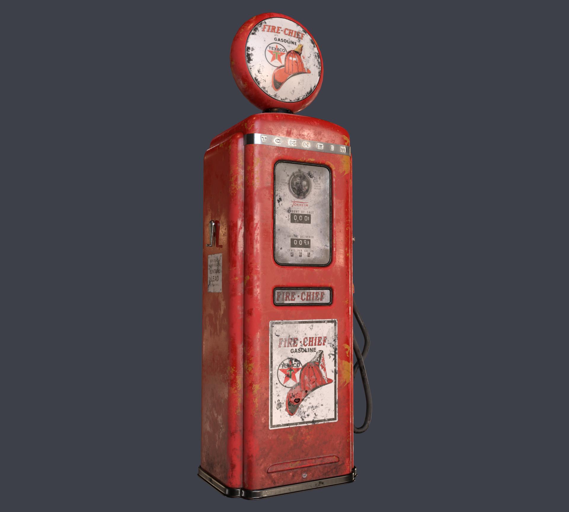 ArtStation - Old Gas Pump, Anton Kazmin