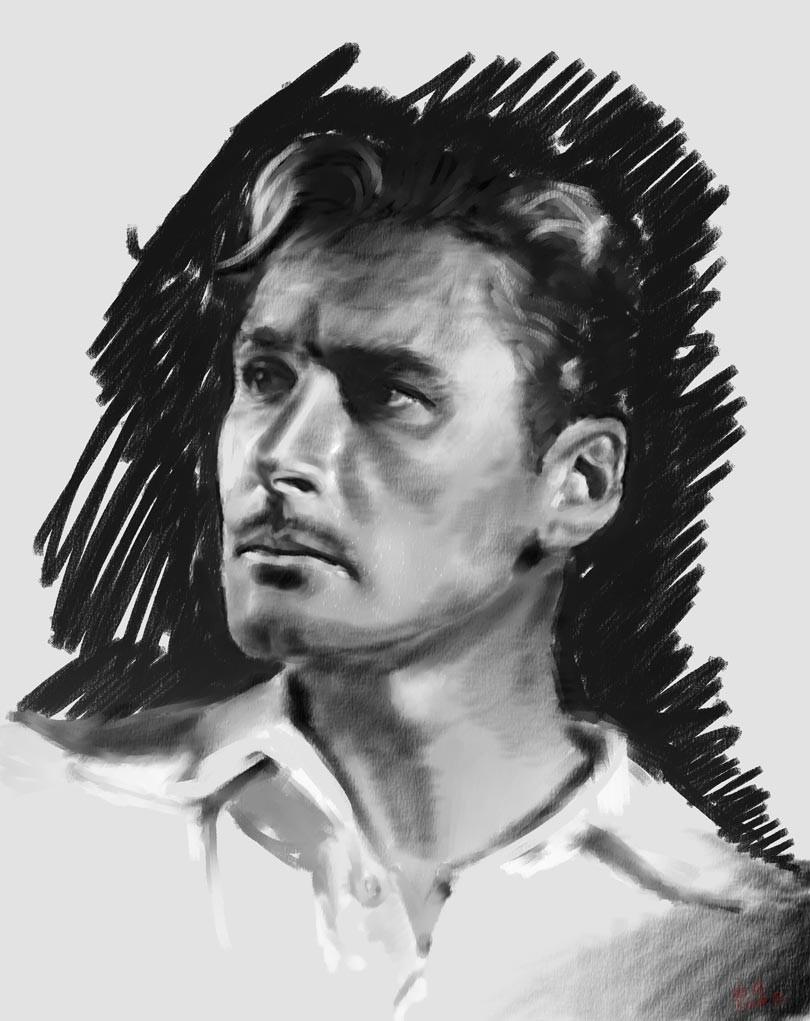 Portrait Errol Flynn Personal Artwork Corel Painter Digital painting