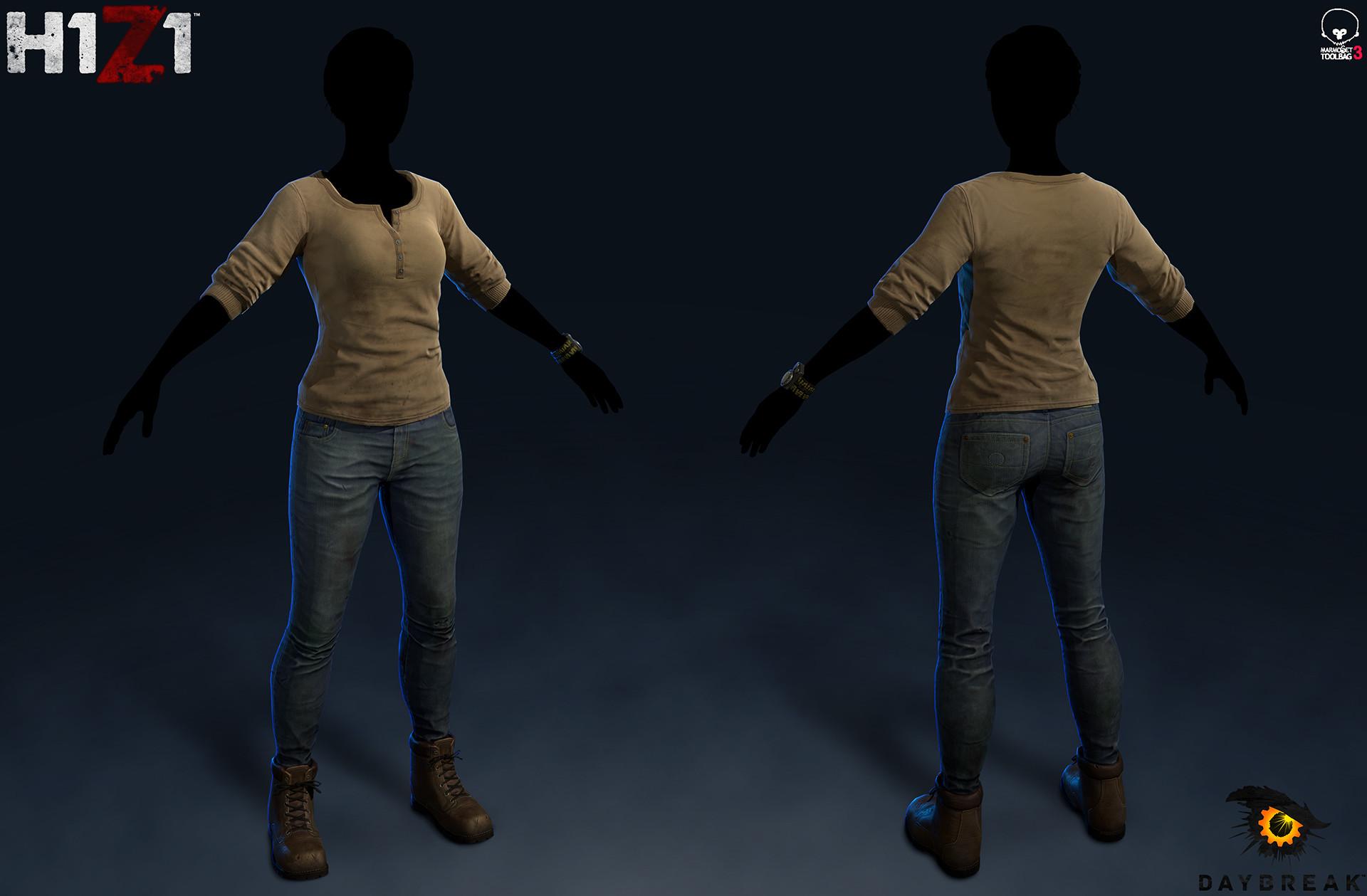 Satoshi arakawa female henley jeans