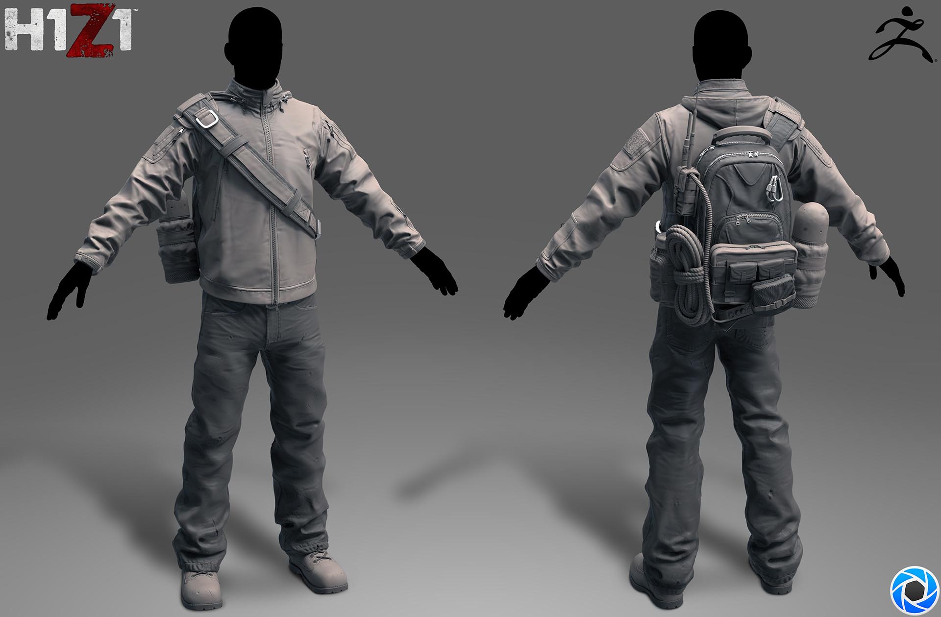 Satoshi arakawa tac jacket outfit sculpt