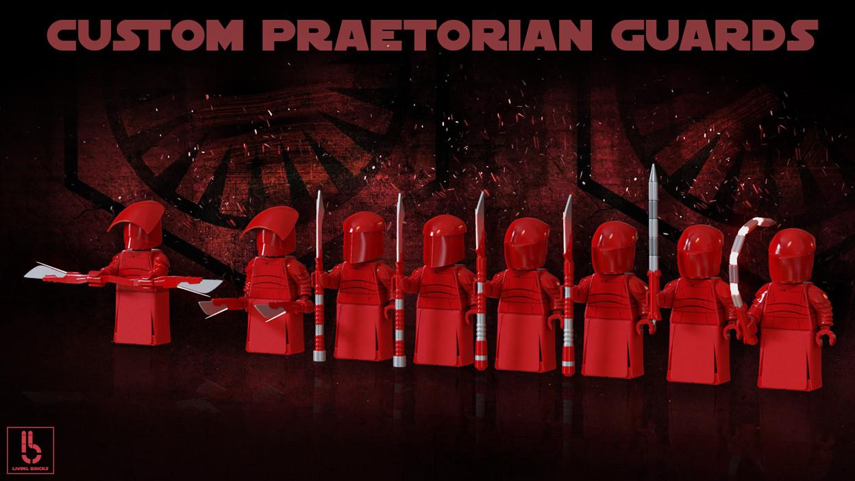 Custom 3D Lego Star Wars Elite Praetorian Guards From The Last Jedi