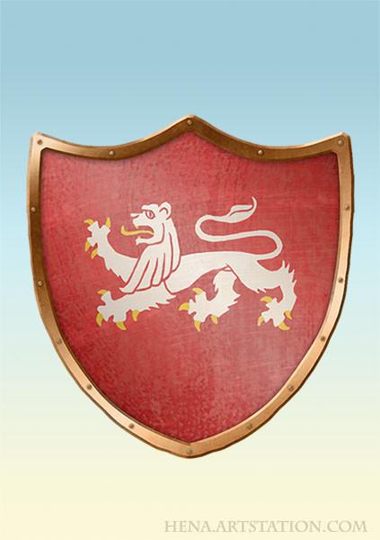 DSA: Coat of Arms - Ritterorden Weisse Loewen