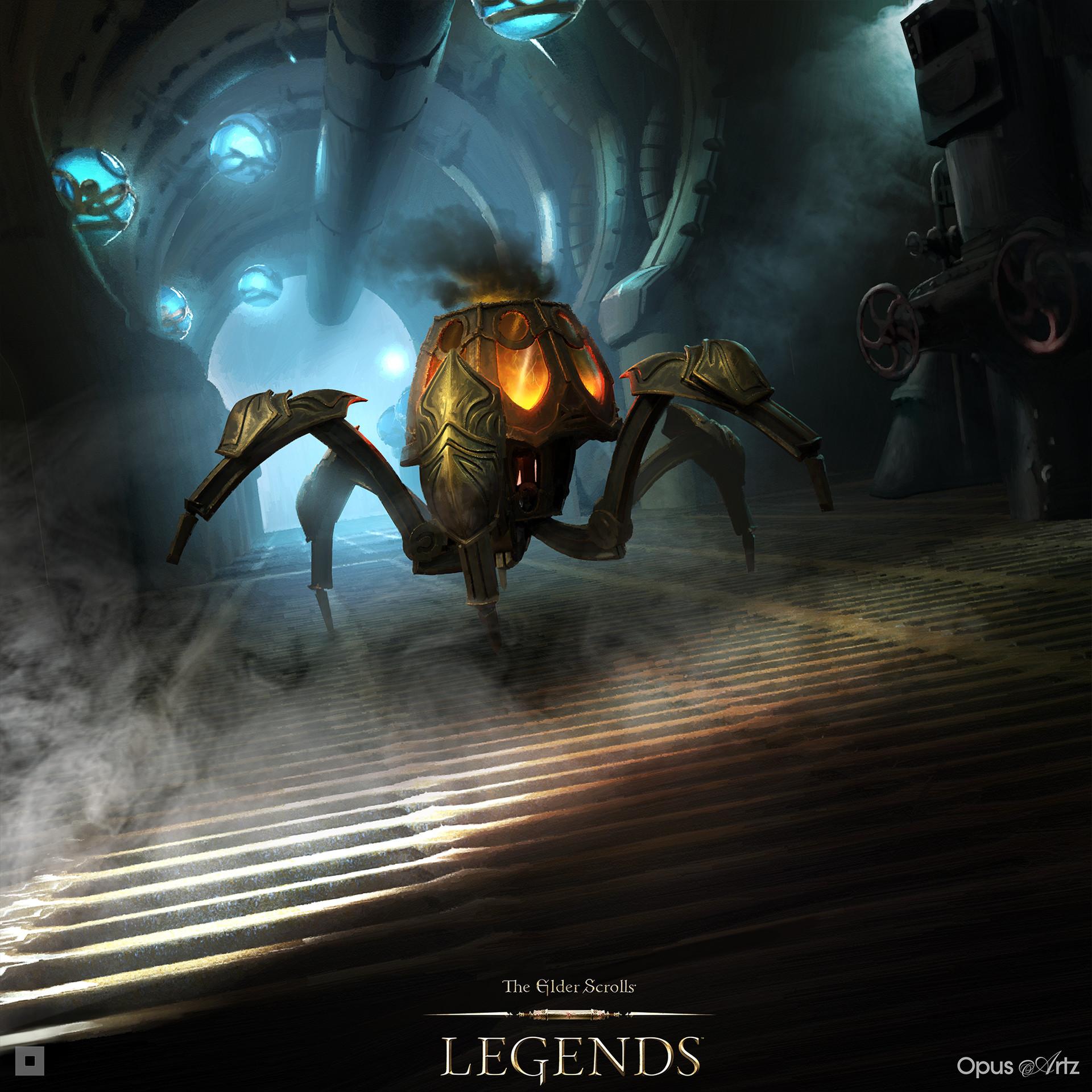 Opus artz tesl firepot spider