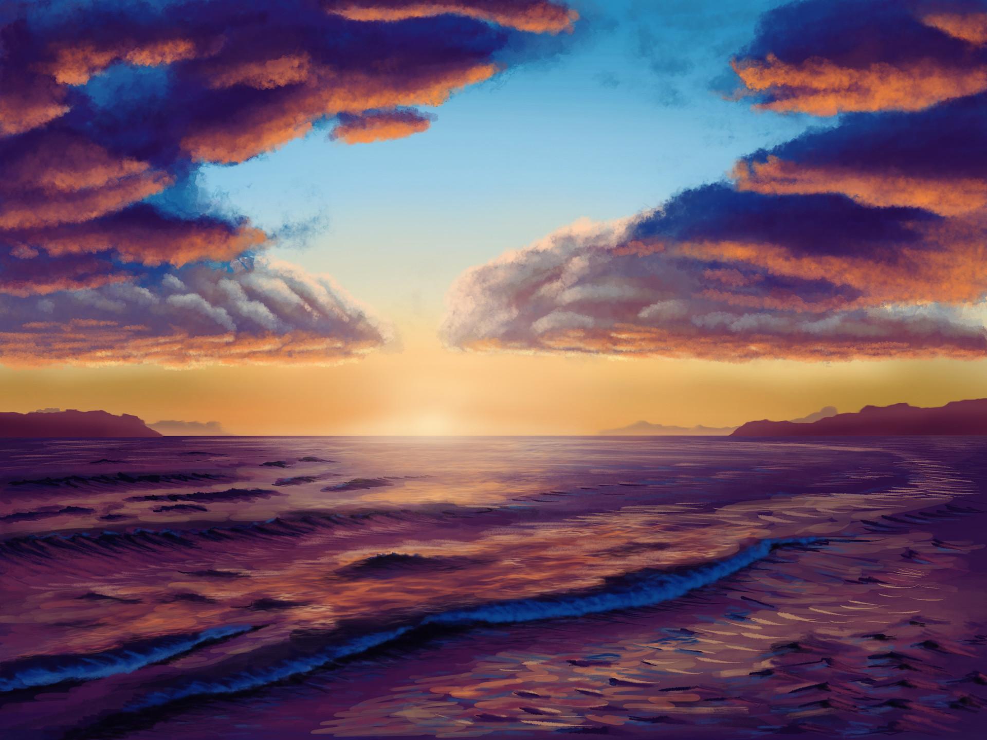 David Noel Purple Sunset