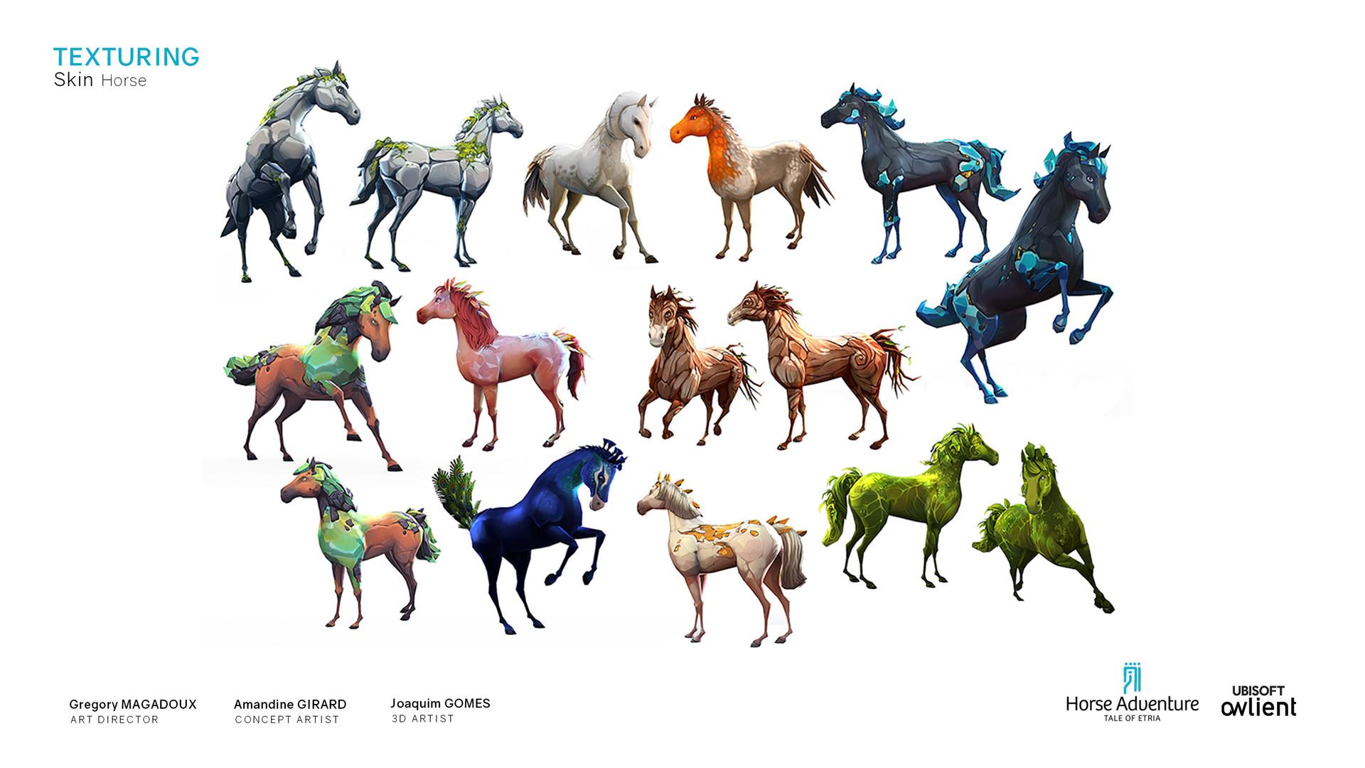 Koni amandine girard amandine girard koni horseadventure horse texturing