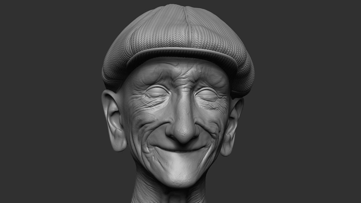 Pablo munoz gomez zbrush2018 pablomg golfer statue10