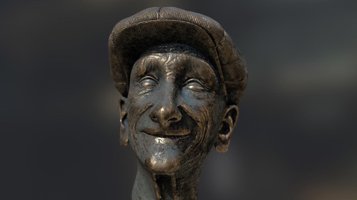 Pablo munoz gomez zbrush2018 pablomg golfer statue