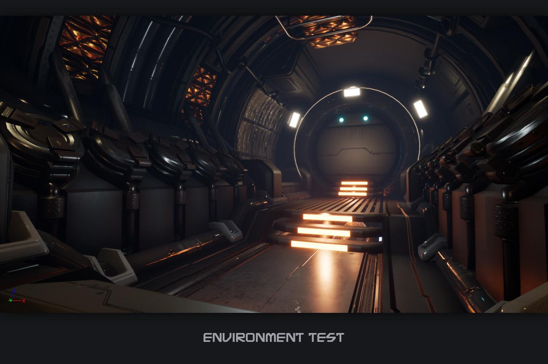 Sci Fi Hallway - Art Test