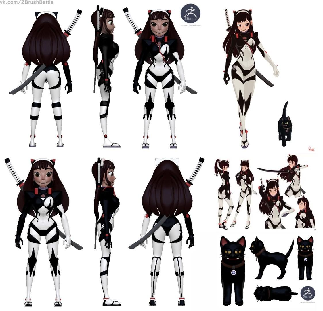 ArtStation - Girl Anime sculpt concept art , ALEKSEY