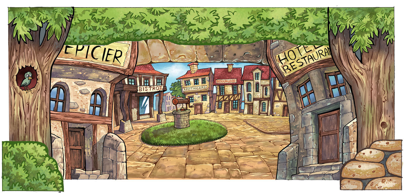 Serge fiedos guignol village assemblage by serge fiedos
