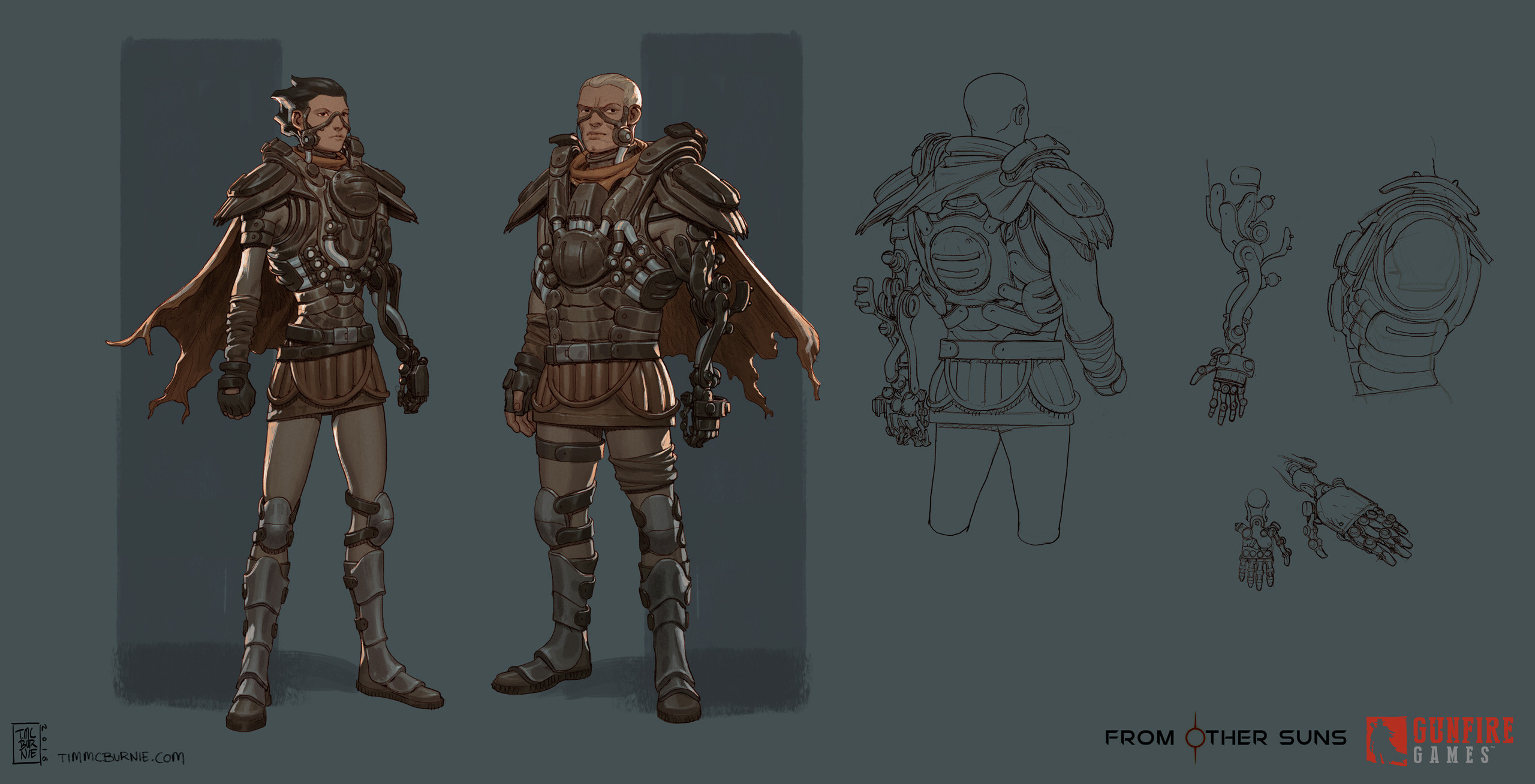 Finalised model sheet versions of some Officers.