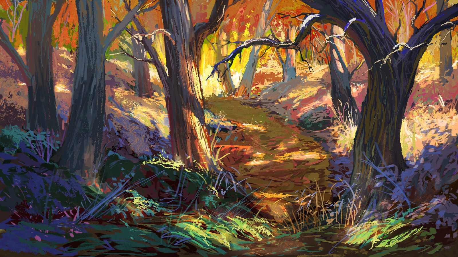 Painterly Forest