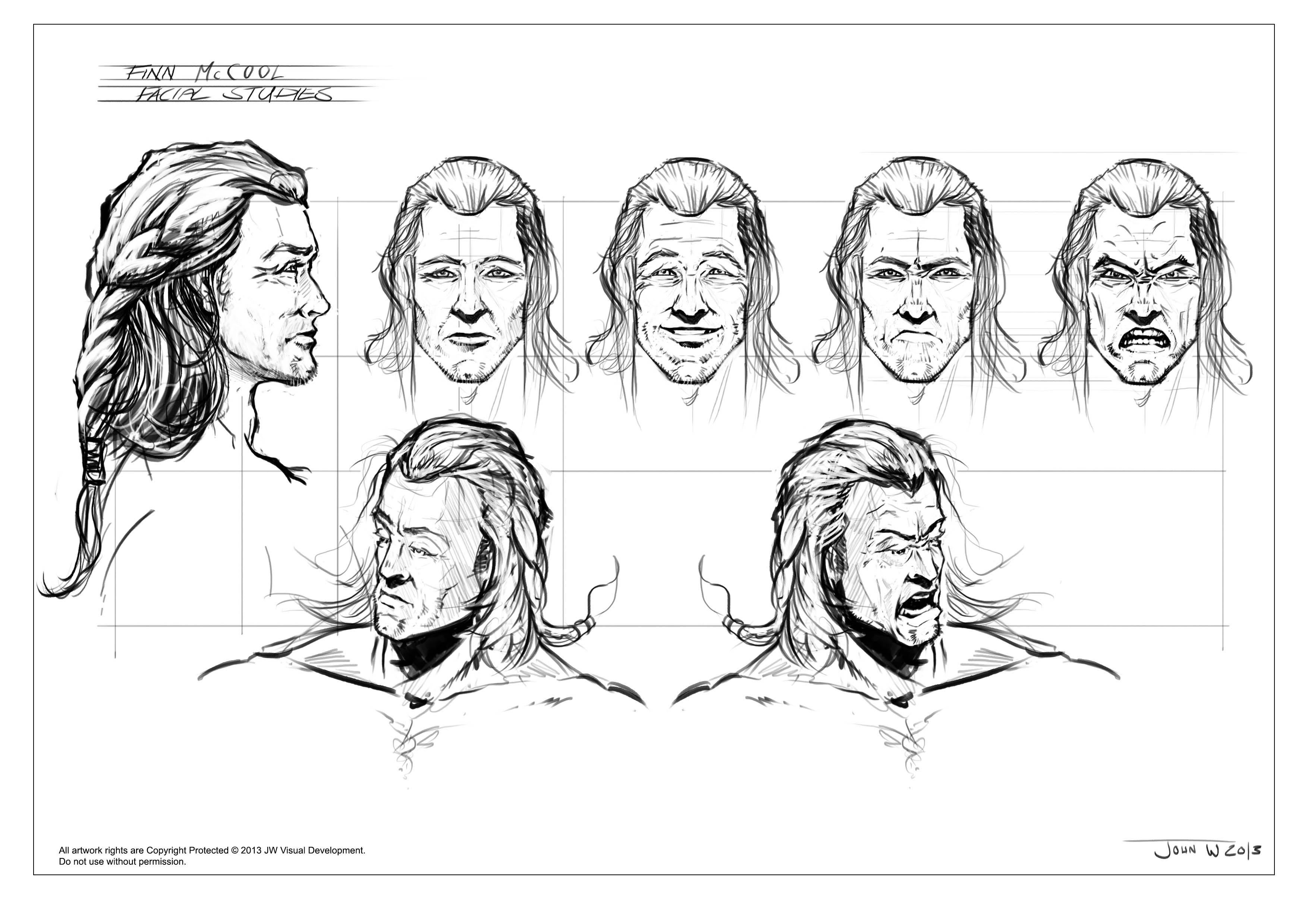Finn McCool Facial studies