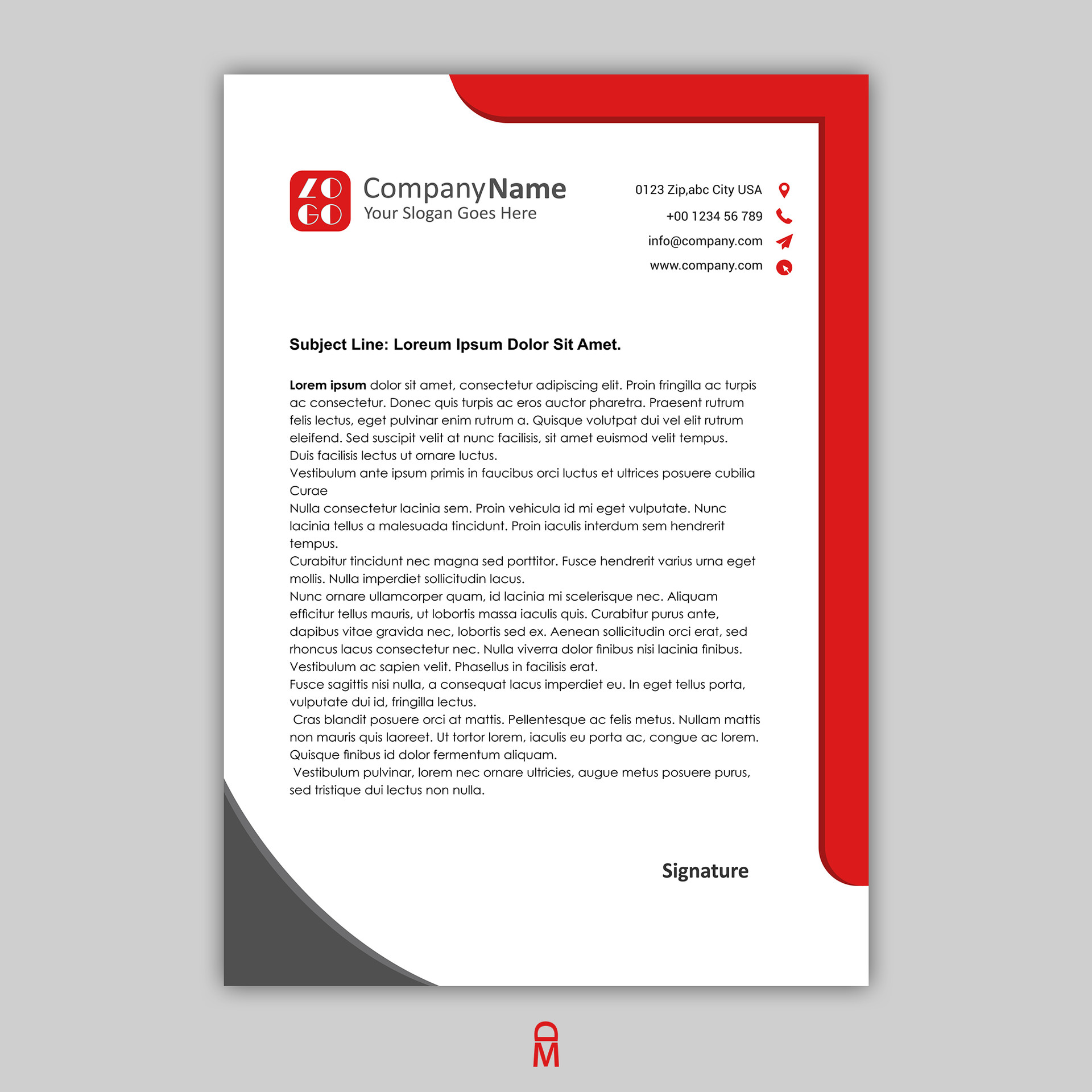 what info goes on a letterhead