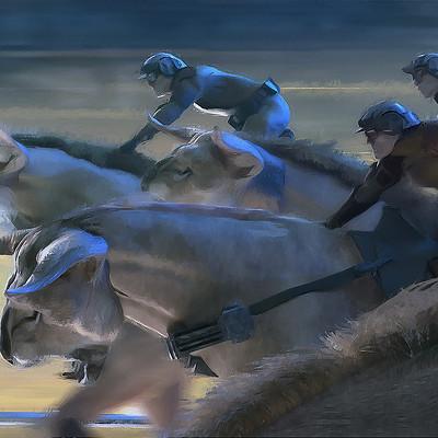Aaron mcbride jockeys racing fathiers closeup