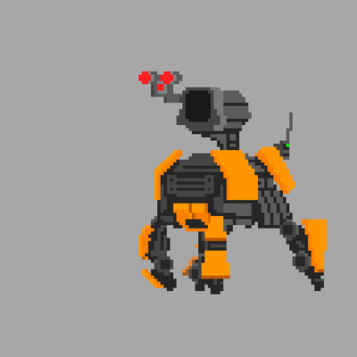 Luiz melo spider tank robot gif