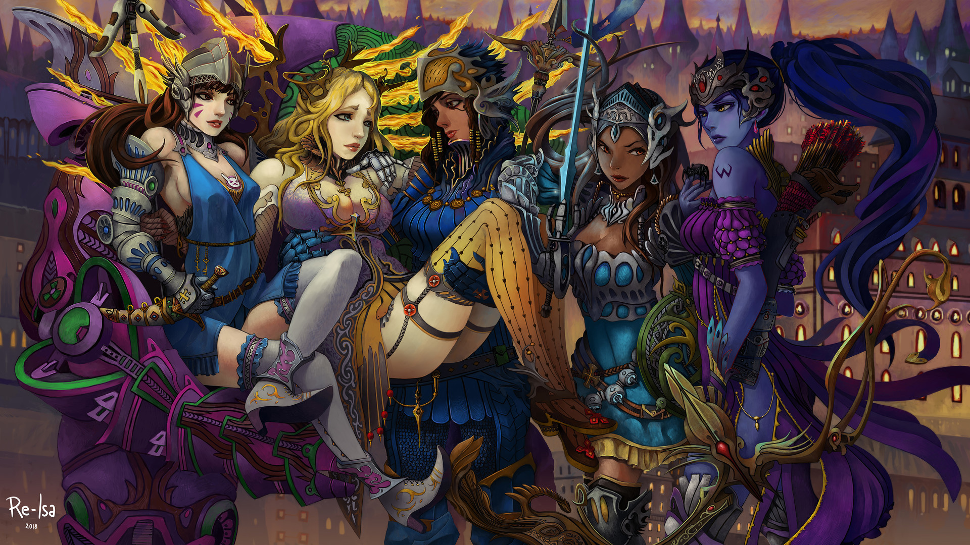 Artstation Overwatch Fantasy Record Of Omnic War Re Isa
