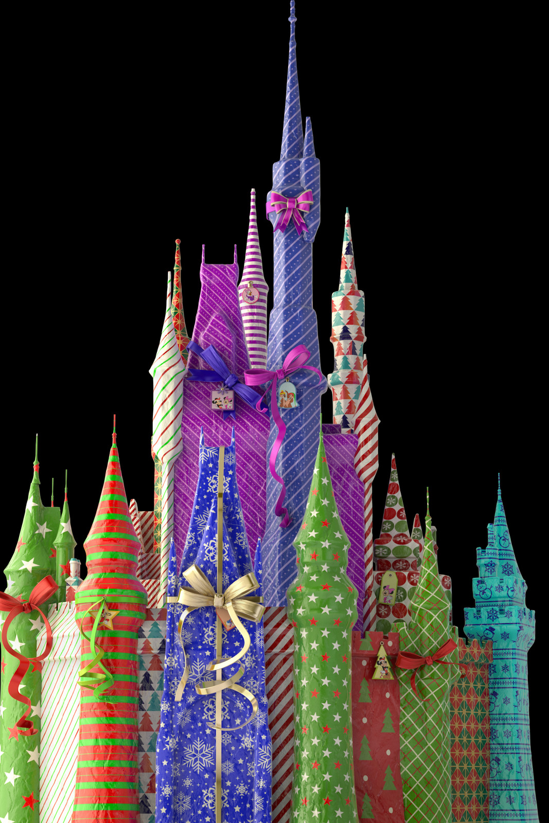 Gift wrapped Disney castle