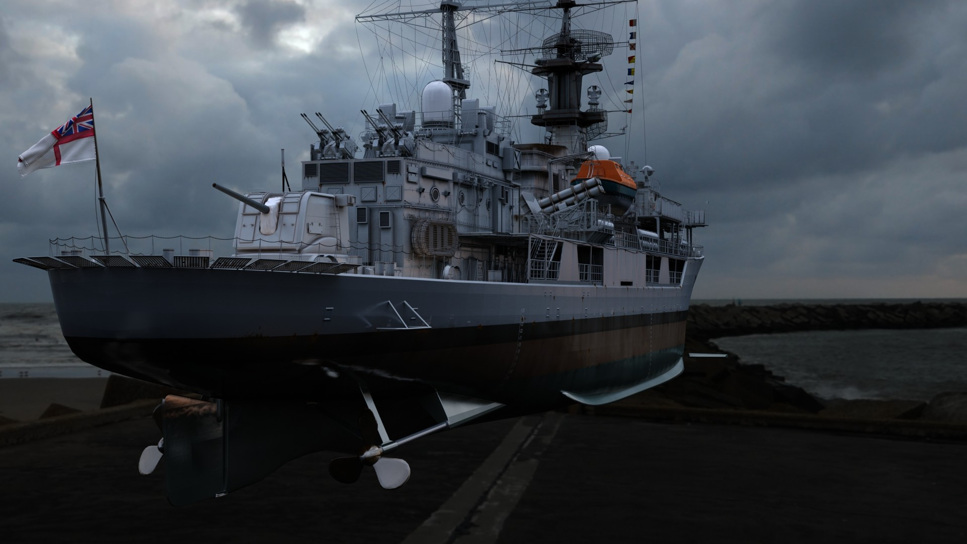 HMS Havok 02 (3ds Max)