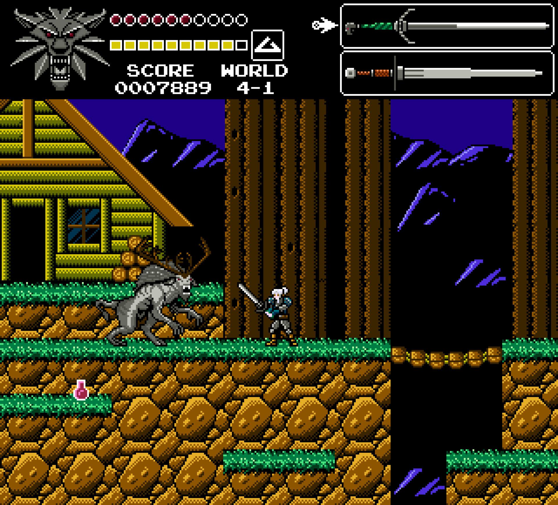 ArtStation - Witcher NES mockup, Damian Gasiński