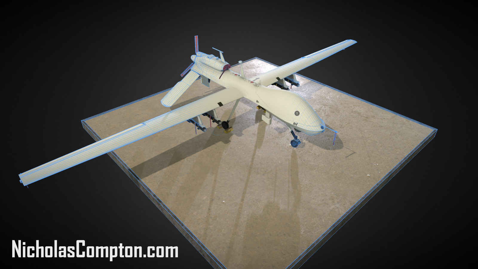 MQ-1C Gray Eagle Render