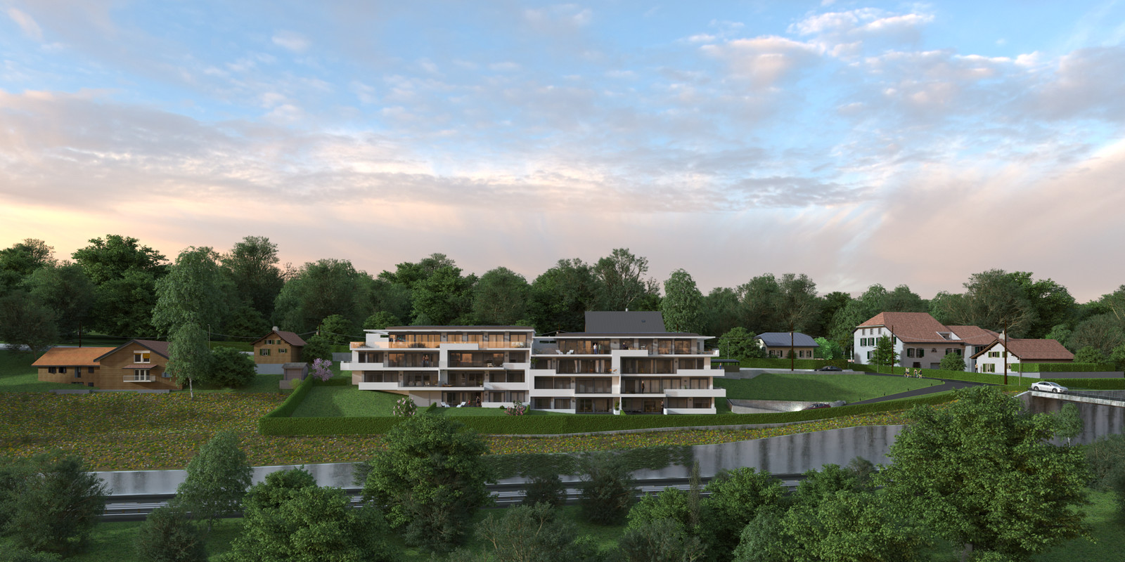 SketchUp 2018 + Thea Render  Project Lutry Thea Full work file 05 No Fog 2018 2-Scene 124 2 pt layers 161hdr   HDR by HDRI-SKIES found here: http://hdri-skies.com/shop/hdri-sky-161/
