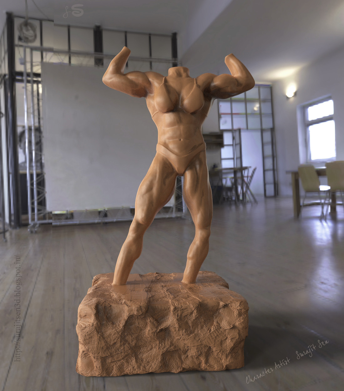 One of my IFBB figure speed sculpt study....wish to share a snap..:) Study reference-IFBB Figure of #MargitaZamolova