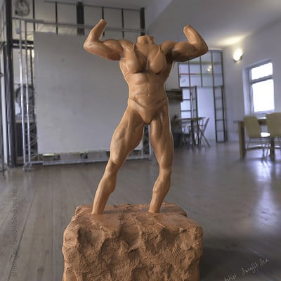 Surajit sen ifbb figure sculpt by surajit sen