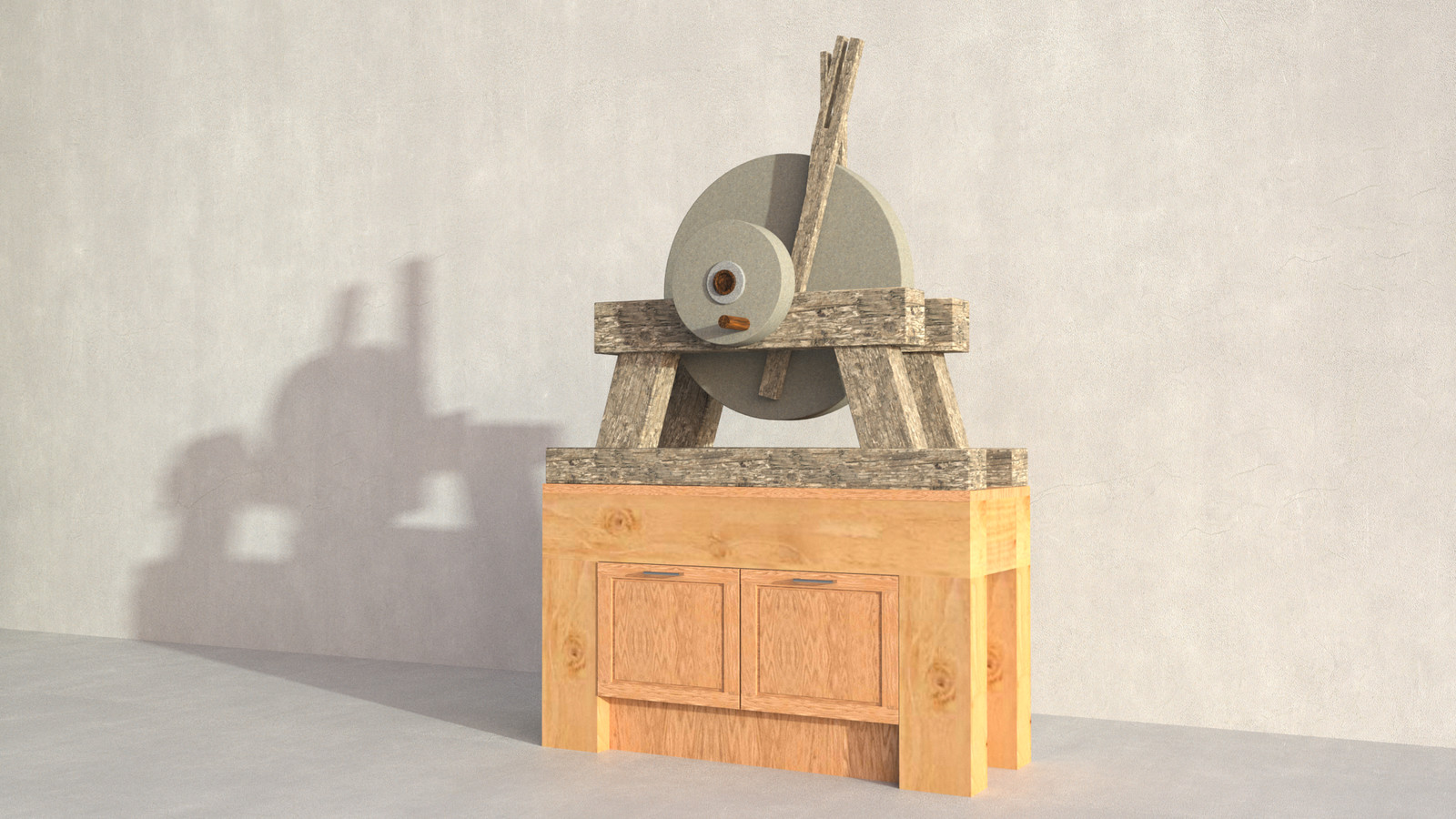 SketchUp + Thea Render  Rivendell Mill's Millstone 01