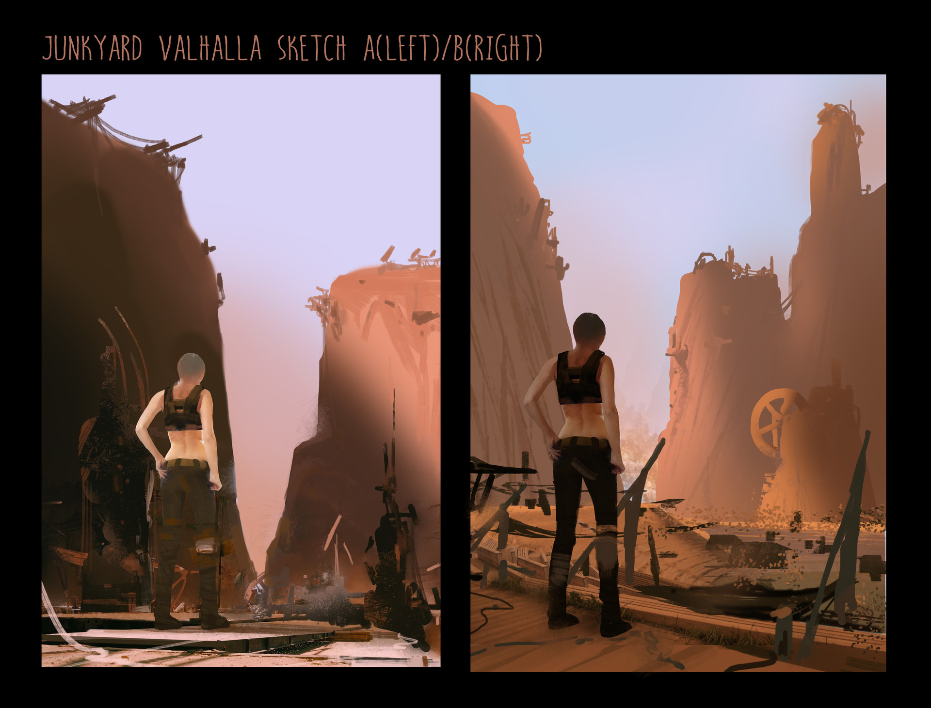 Yujin choo junkyard valhalla sketch02