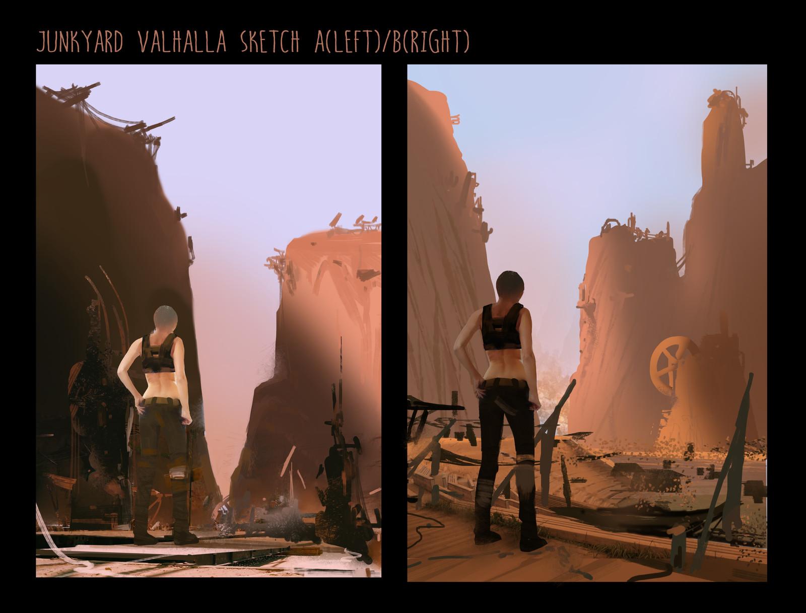 Junkyard Valhalla sketch02